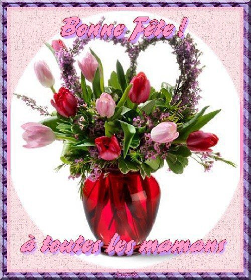 BONNE   FETE   A  TOUTES  LES  MAMANS  !!!!!   QUI   SONT  DANS  MA  LISTE  D' AMIES  !!!!  ET  AUSSI  POUR  TOUTES  LES  AUTRES  MAMANS  !!!!!    BISOUS  DE MANON....