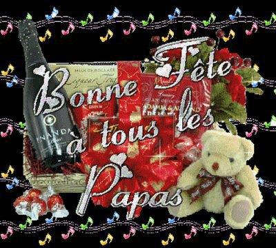 BONNE   FETE  A  TOUS  LES  PAPAS  !!!!   QUI   SONT   DANS  MA  LISTE  !!!!   BISOUS  DE    MANON