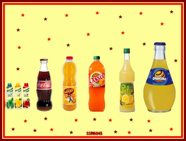 Tang - Banga - Coca cola - Orangina - Pulco - sirop Teisseire