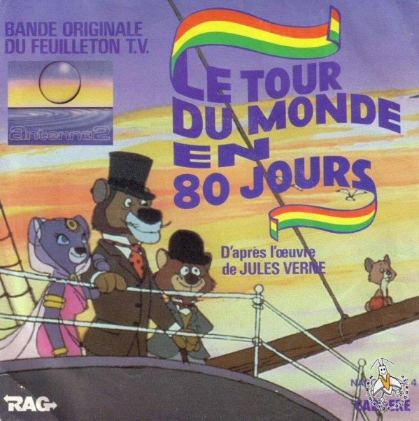 Le Tour du Monde en 80 jours - Générique - 45T - 1984