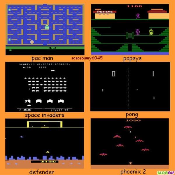 Jeux sur la Console ATARI 2600