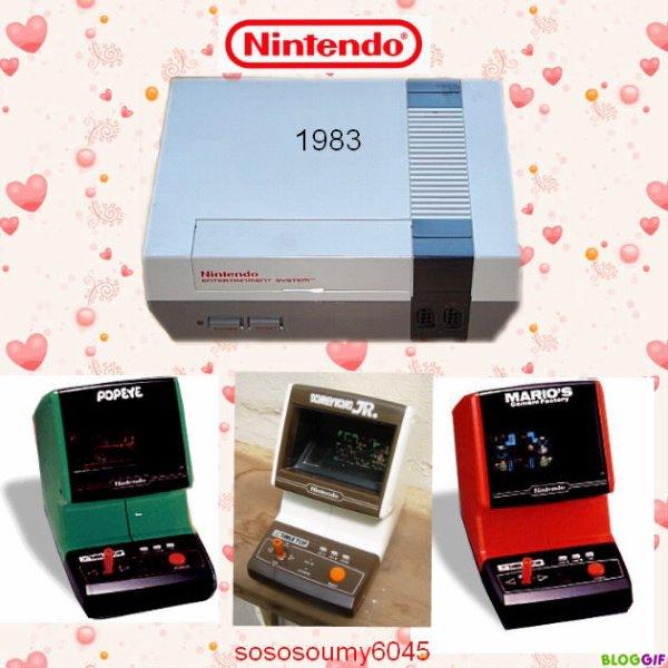 Consoles de jeux vidéo NES de Nintendo (1983)