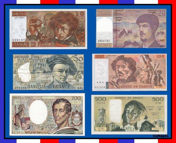 Monnaie ancienne de notre jeunesse... Les Francs