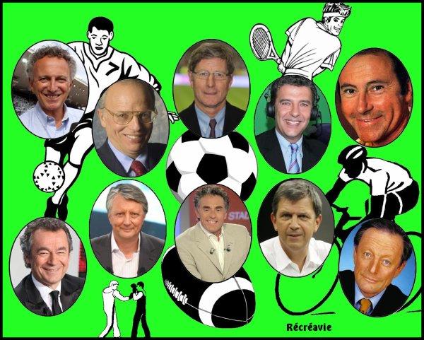 Le Monde de la Télévision : Présentateurs de Magazines sportifs - Journalistes Sportifs
