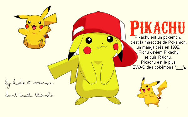 Pikachu avec Manon