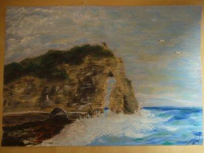 Peinture Etretat