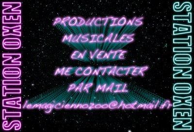 VENTE DE PRODUCTIONS MUSICALES