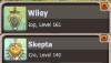 les niveaux de mes personnages a ce jours :)