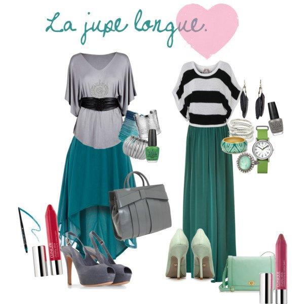 La jupe longue.♥ - Polyvore