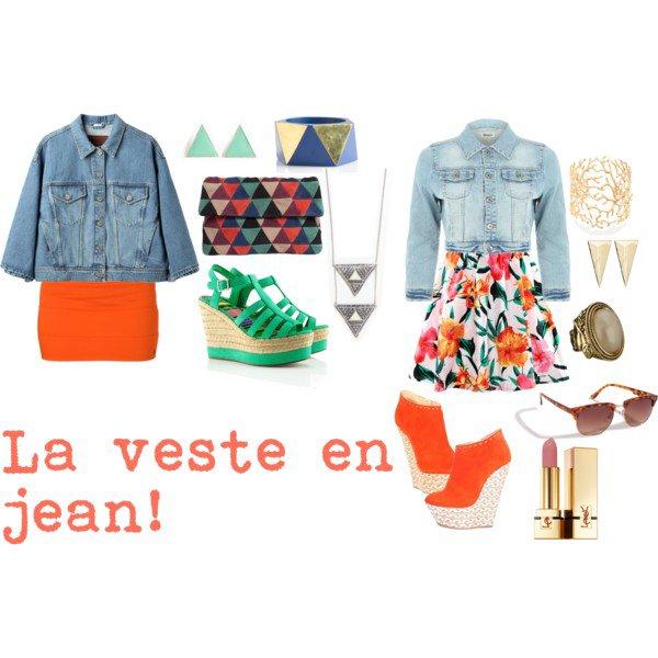 La veste en jean.♥