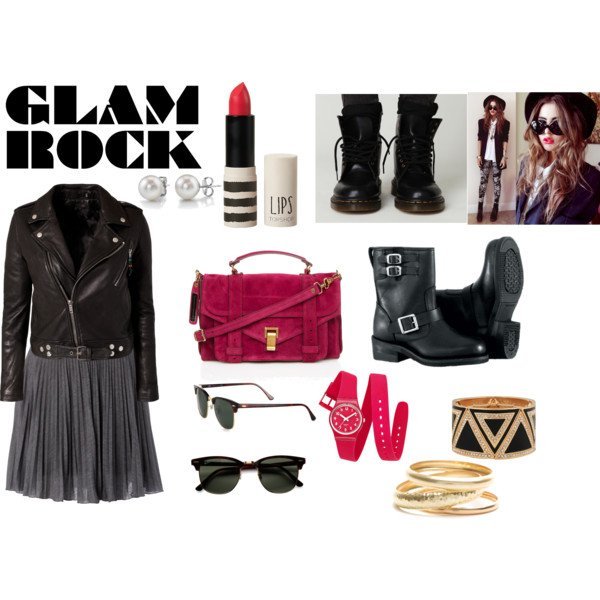 Avoir un look glam/rock