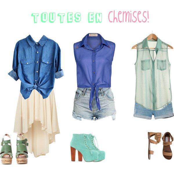 Les chemises... Qu'est ce que j'aime ça ! =))))