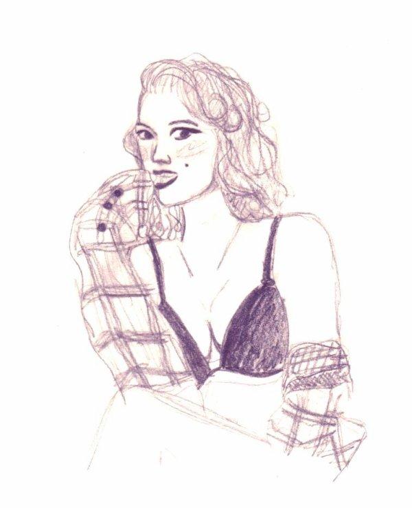 Mon dessin pour les concours de: Sasuki67 et de Love---VintagE