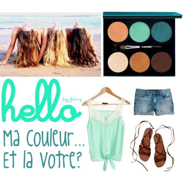 Le turquoize, ma couleur préférée! <3