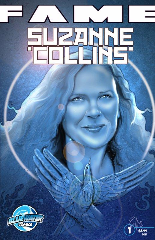 Les premières planches de la BD sur Suzanne Collins.