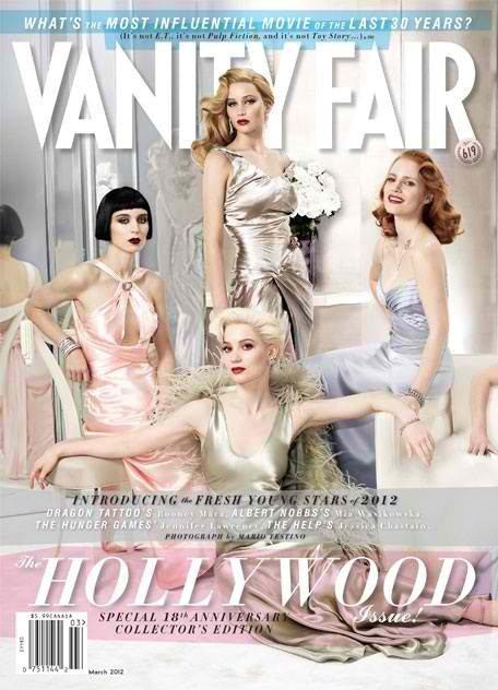Jen en couverture du Vanity Fair (mars 2012)