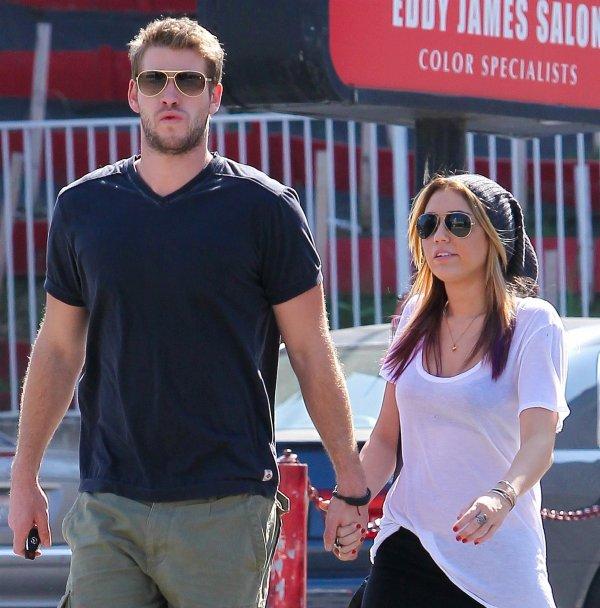 18.10.2011 Miley et Liam vont déjeuner