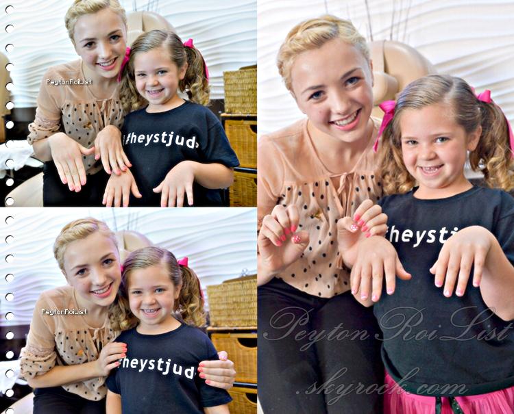 19 novembre 2012 | Peyton List était avec Brooke, une patiente de 7 ans du « St-Jude » pour une journée spa & manucure à LA.