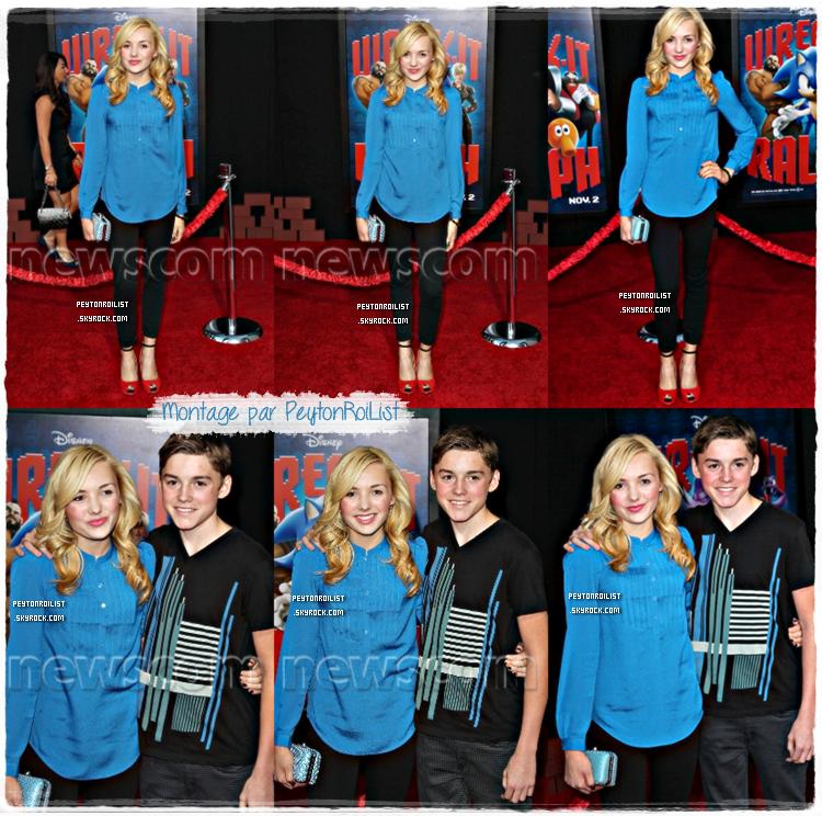 29/10/12 : Les jumeaux Peyton & Spencer à l'avant-première de « Wreck-It Ralph » à Hollywood au El Capitan Theatre.