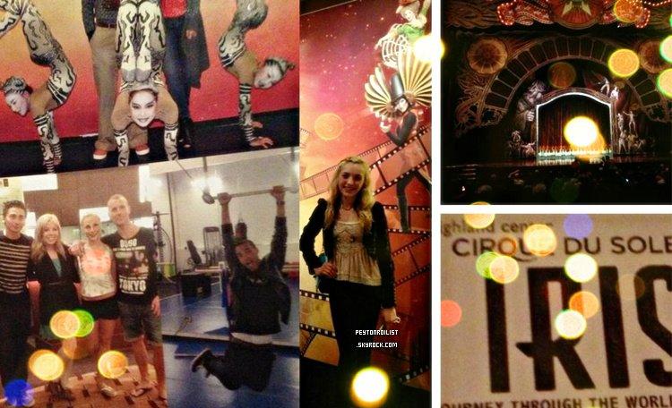 Notre belle Peyton List était à une représentation du cirque « IRIS | Cirque du Soleil » de Los Angeles, il y a quelques jours.