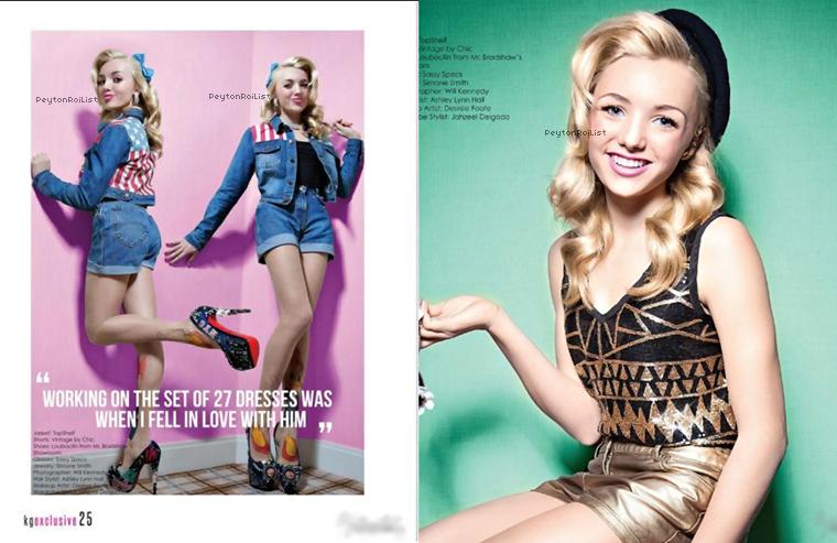 Voici les scans (plus que magnifiques !) de Peyton dans le magazine « Kontrol Girl » de printemps.