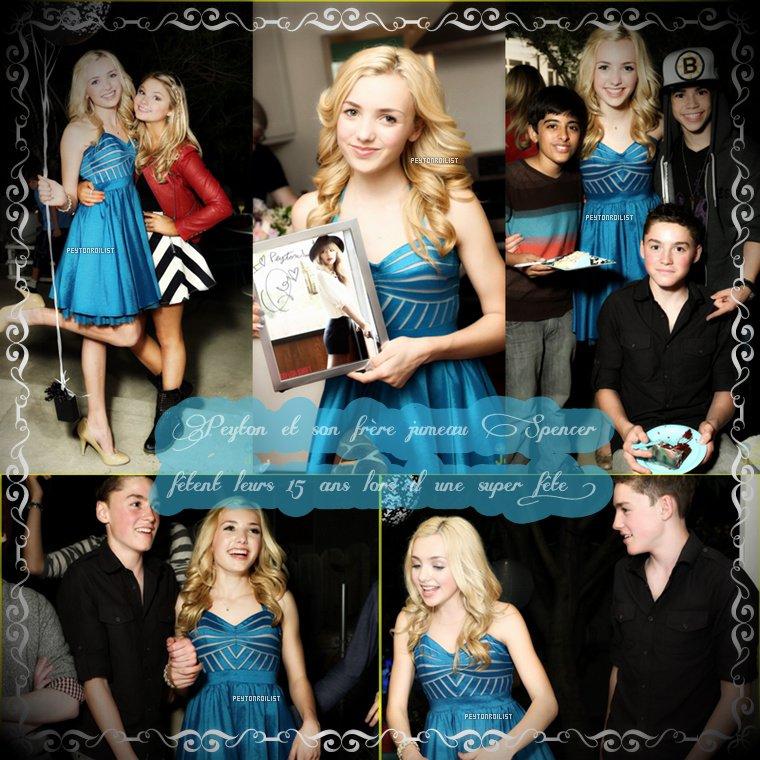 08/04/13 : Peyton et son frère Spencer List à l'événement de « Paul Frank ». Vous aimez sa tenue ?