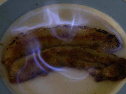 Bananes flambées au cognac