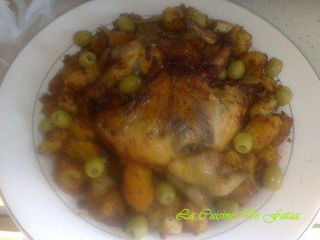Poulet avec pomme de terre sautées