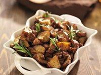 Pommes de terre au romarin et à l'ail
