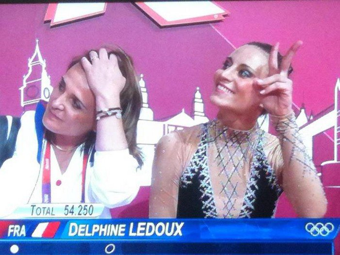 DELPHINE LEDOUX ET KATIA GUILLERE COLLECTION PHOTOS JO LONDRES 2012