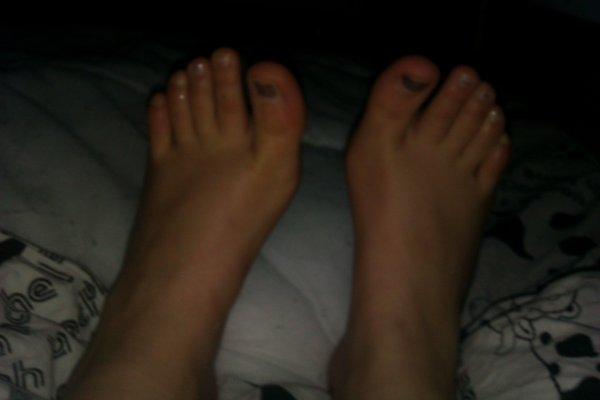 les pieds de fille