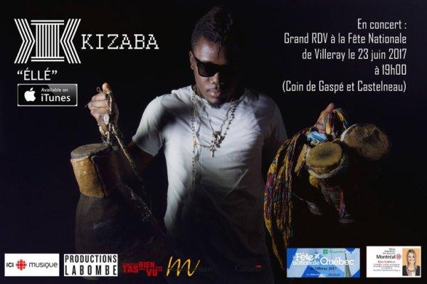 KIZABA en spectacle le 23 juin 2017 à 19h00 à la fête nationale de Vileray