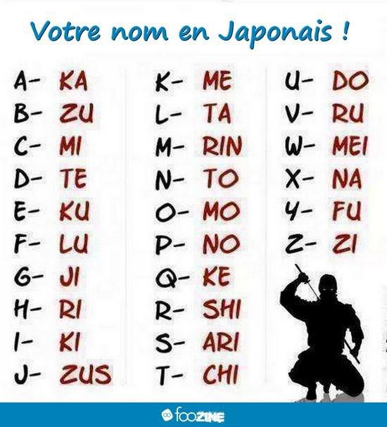 mon prénom en japonais