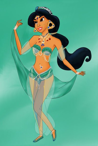 Jasmine en danseuse orientale vraiment trop belle