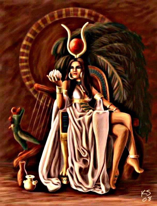 Harthor déesse de amour de la natalité et de la musique