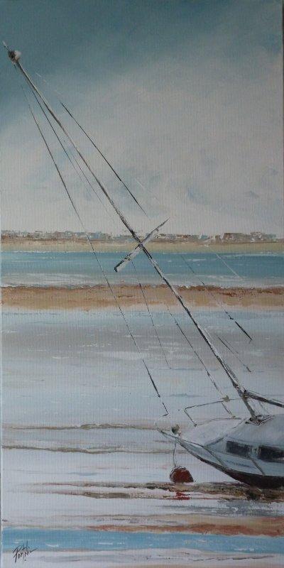Marée basse à Fouras 30x60
