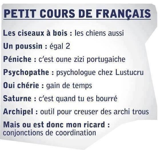 PETIT COURS DE FRANCAIS