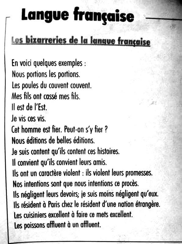petit cour de français