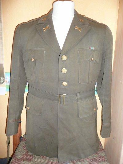 veste de sortie US de second lieutenant de l'artillerie