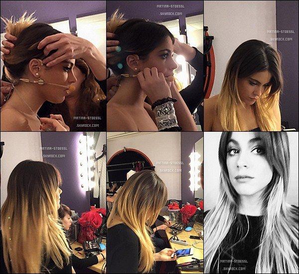 . 14-15/02/15 - Tini se préparant pour #ViolettaLiveToulouse. .