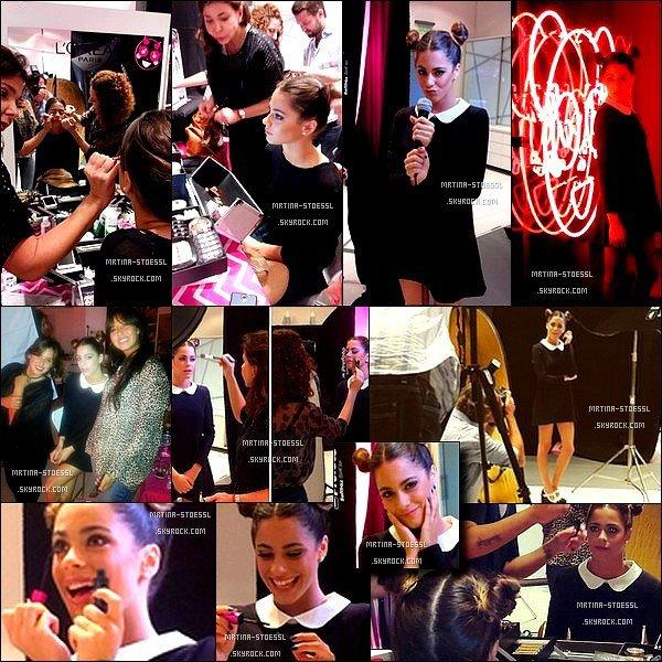 """. DÉCOUVREZ LES PHOTOS DES BACKSTAGE DU SHOOT DE TINI POUR LE MASCARA """" MISS MANGA """" PAR L'ORÉAL PARIS ! Martina avait signée un contrat et réalisée un shoot avec l'Oréal Paris en 2014 et elle revient pour un tout nouveau photoshoot ! J'ai hâte, pas toi ? ."""