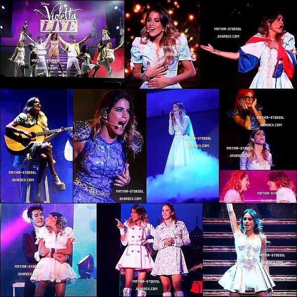 . 5 mai 2015 : La jeune Tini Stoessel a donnée un concert dans le cadre de la tournée #ViolettaLive à Asunción - Paraguay. Les photos sont très nombreuses. Tini n'a pas hésité à nous faire part de la joie de se produire au Paraguay. Je trouve les clichés très beau, et toi ? .