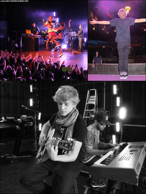 26 avr.  Photos prises en Backstages pendant le « Wating 4U Tour » avec Greyson Chance.
