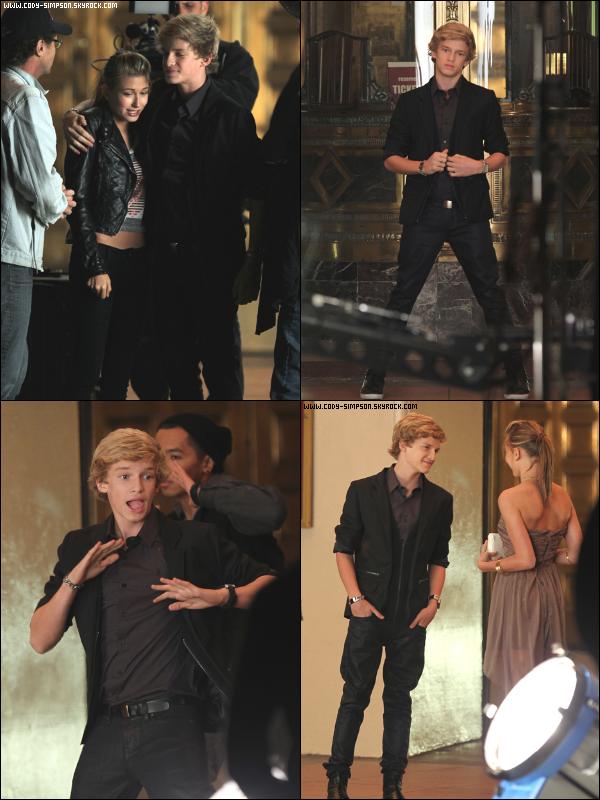 17 mai. Cody sur le tournage de son nouveau clip « On My Mind ».