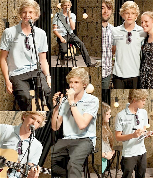 4 juin. Notre Cody performe au « Early Show » de New York City.