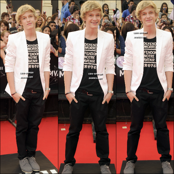 19 juin. Cody à la 22ème cérémonie des « Much Music Video Awards » à Toronto, au Canada.