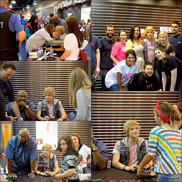 19 juin. Cody fait une séance de dédicaces dans le magasin « HMV square one » à Montréal, au Canada.