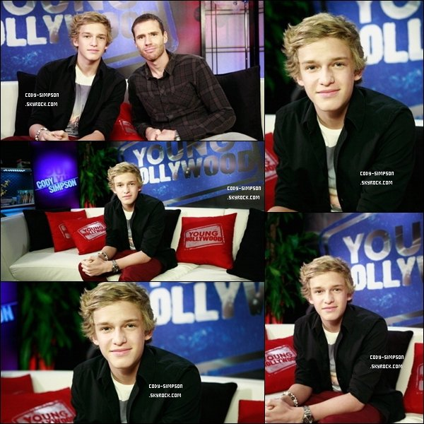 5 oct. Cody fait une interview pour « Young Hollywood » à Los Angeles.   .