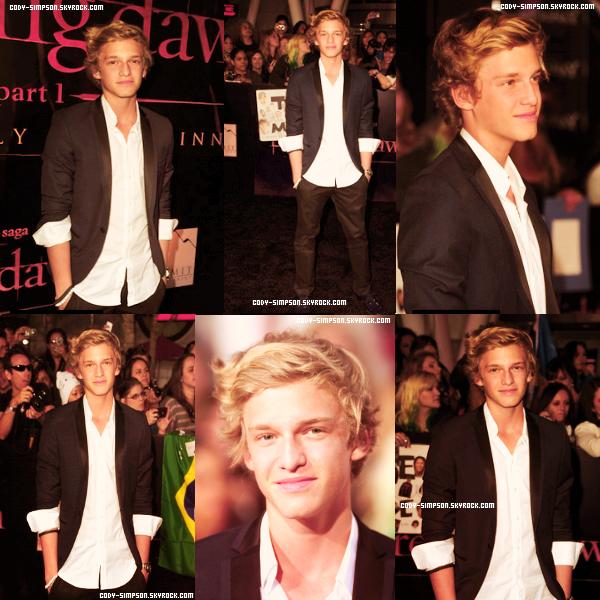 15 nov. Cody à la première du nouveau Twilight « Breaking Dawn » à Los Angeles.   .