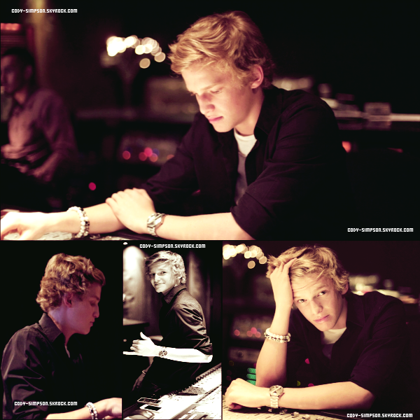 08 dec. Nouveau photoshoot de Cody fait en studio pendant l'enregistrement de son album.   .